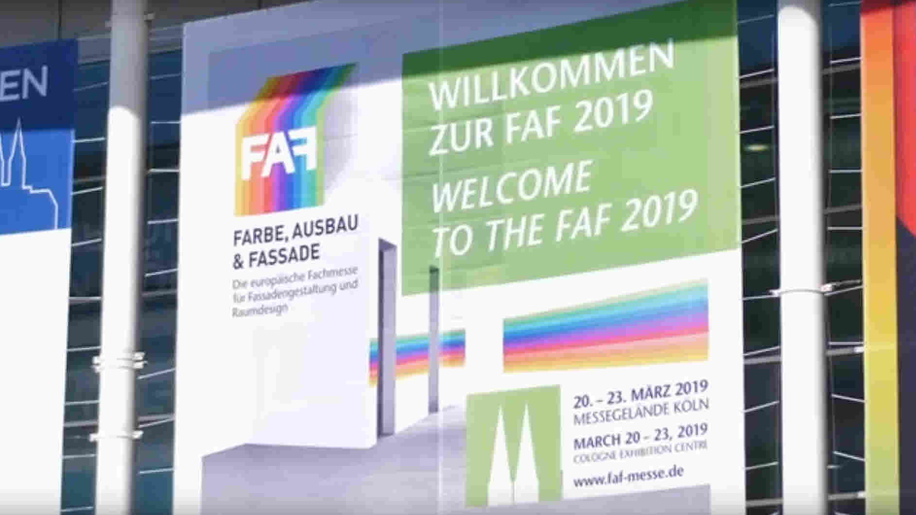 Screenshot zum Film über die Messe FAF Köln